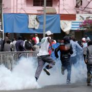 [Photos] Opposition protesters teargassed by Kenya p...