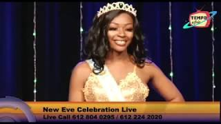 Miss Nigeria International at Tempo Afric TV for for the new year Eve 2020