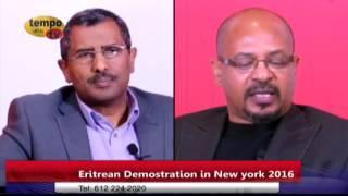 Tempo Afric TV - ERITREAN DEMOSTRATION IN NEW YORK 2016 Guest MAHMOUD