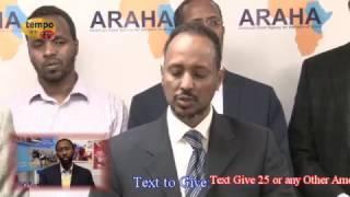 Tempo Afric TV - ARAHA Press Conference Famine in Somalia