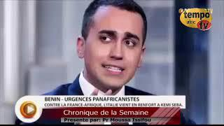 Le Vice-Premier Ministre Italien Dénonce la Françafrique